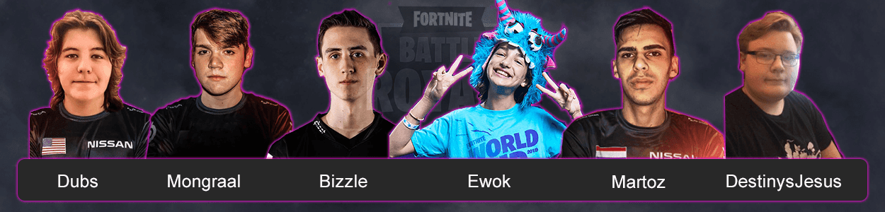 Команда FaZe Clan по Fortnite Battle Royale