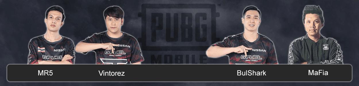 Команда FaZe Clan по PUBG Mobile