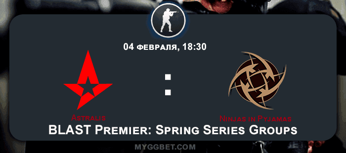 Прогноз на матч Astralis vs Ninjas in Pyjamas 05 февраля 2021 года